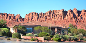 Ivins Utah Homes for sale rest below a magnificent backdrop