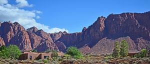 Ivins Utah homes in Kayenta with beautiful red sandstone views