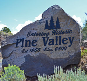 Pine Valley Utah Welcome Sign