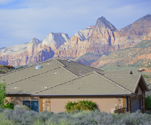 Rockville Utah homes for sale and cliffs of Zion National Park