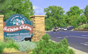 Santa Clara Utah Welcome Sign