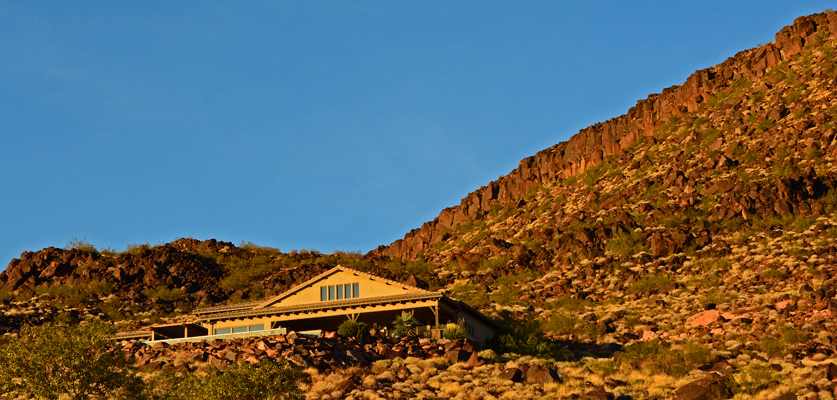 Whisper Ridge home at top of lava bluff
