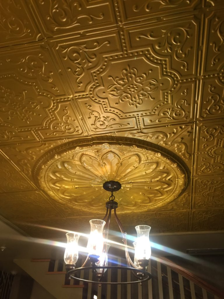 Light fixture at The Electric Theater.