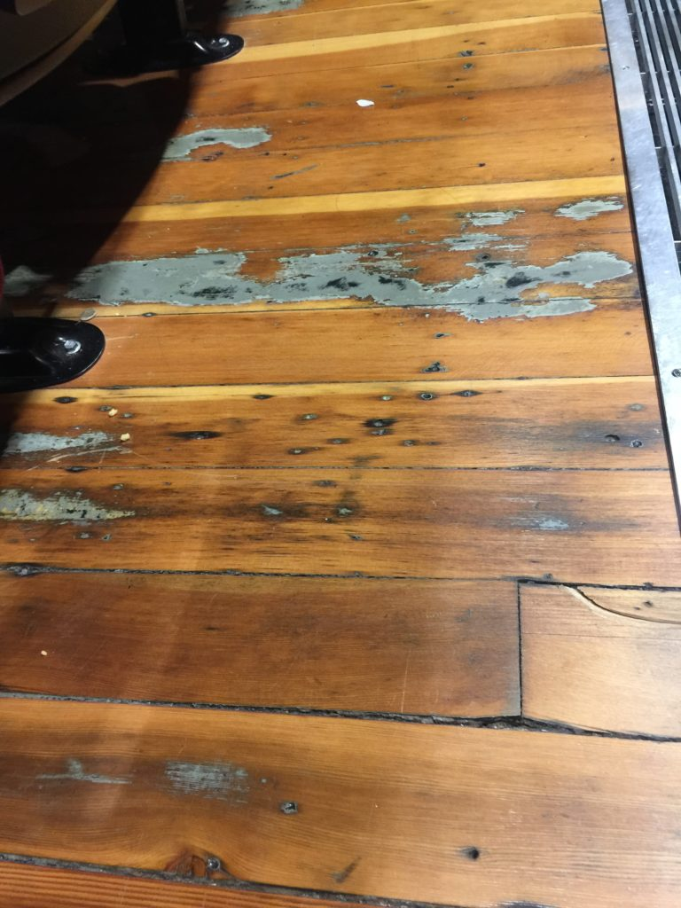 Wood floors at The Electric Theater