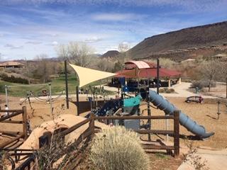 Playground equipment at Cottonwood Cove Park.
