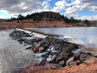 Gunlock Reservoir dam